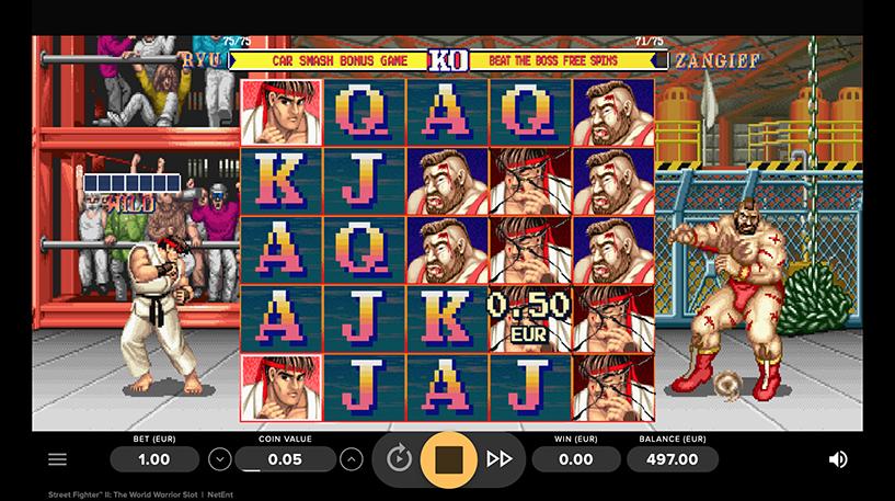 Street Fighter II The World Warrior Slot Screenshot 1