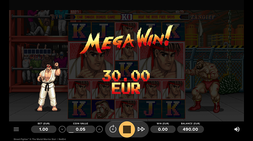 Street Fighter II The World Warrior Slot Screenshot 2