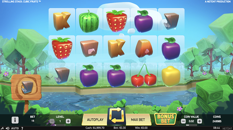 Strolling Staxx Cubic Fruits Screenshot 3