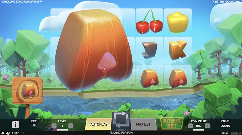 Strolling Staxx Cubic Fruits Screenshot 1