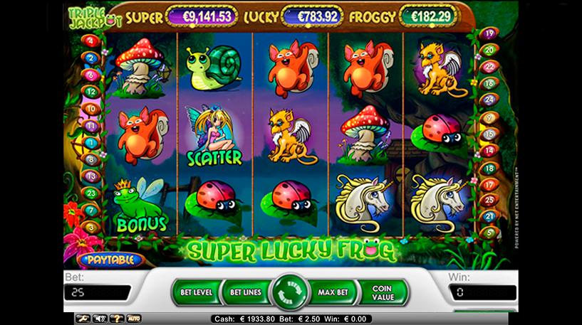 Super Lucky Frog Slot Screenshot 1