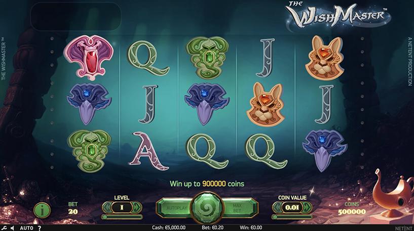 The Wish Master Slot Screenshot 1