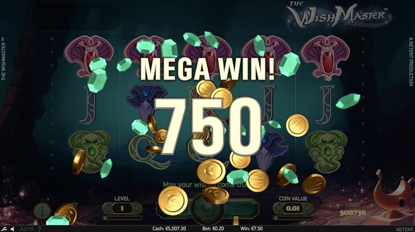 The Wish Master Slot Screenshot 3