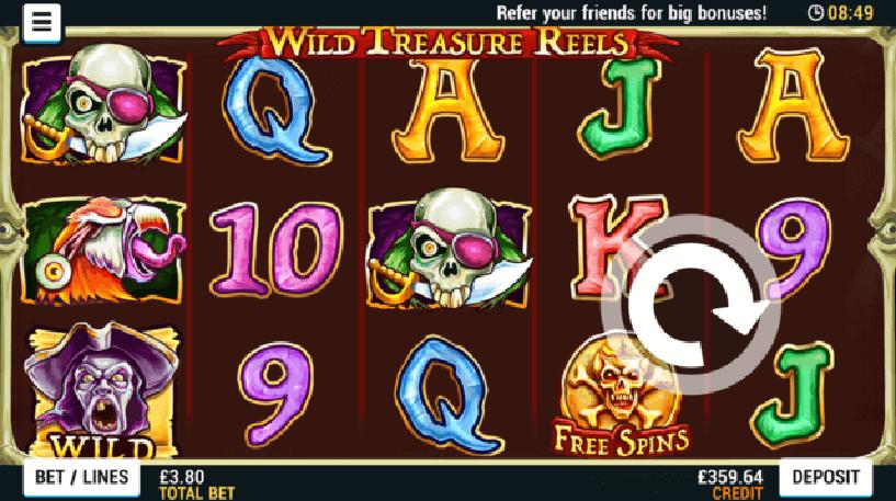 Wild Treasure Reels Slot Screenshot 1