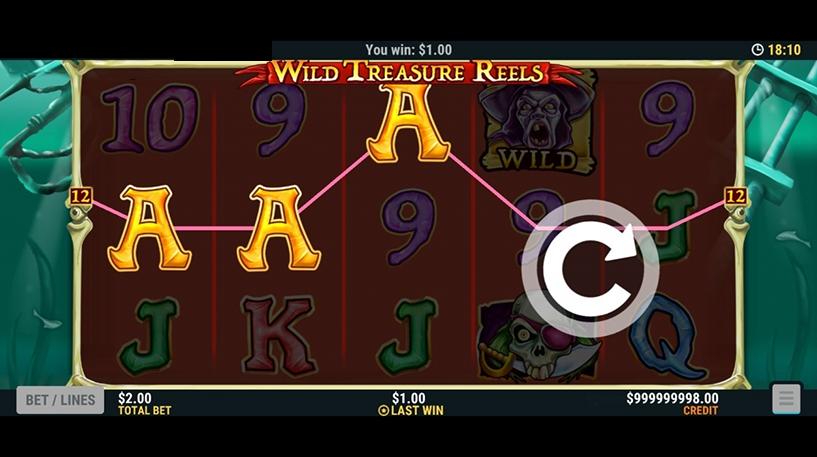 Wild Treasure Reels Slot Screenshot 2