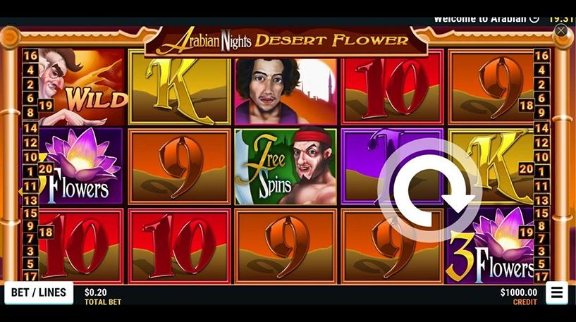 Arabian Nights Desert Flower Screenshot 1