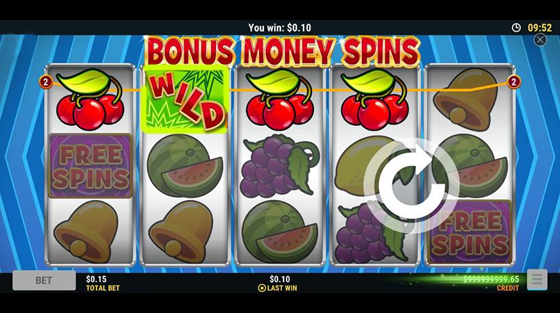 Bonus Money Spins Screenshot 2