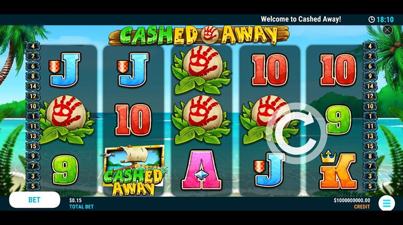 Cashed Away Slot Screenshot 1