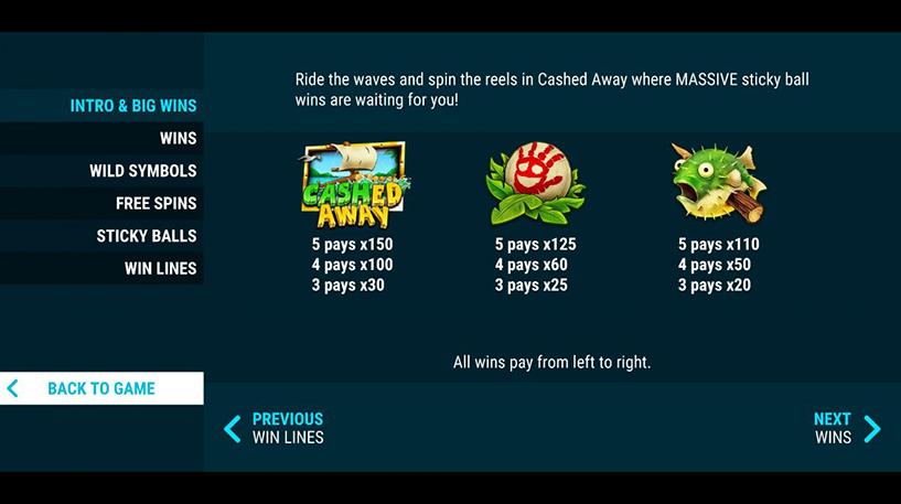 Cashed Away Slot Screenshot 3