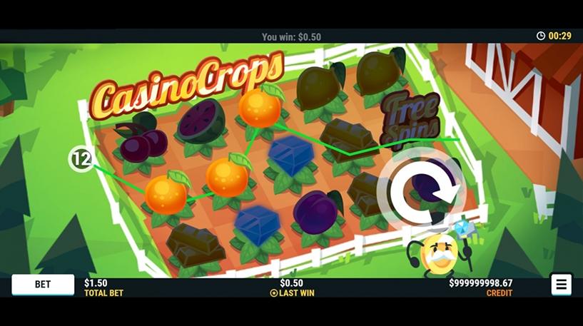 Casino Crops Slot Screenshot 3