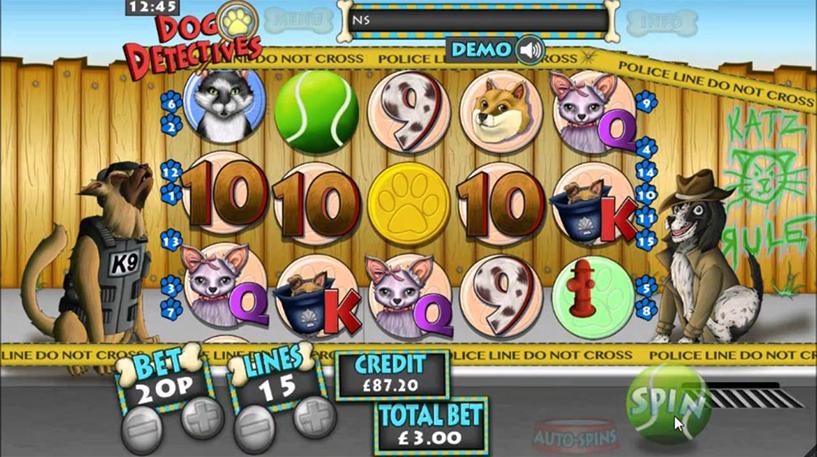 Dog Detectives Slot Screenshot 1