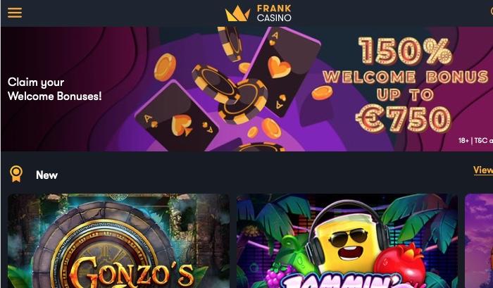Frank Casino Screenshot