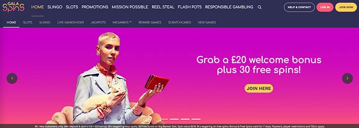 Gala Spins Low Deposit Bonus