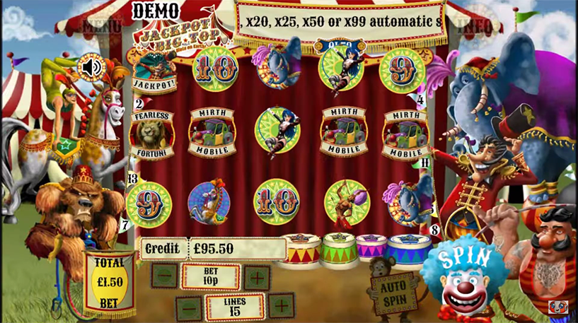 Jackpot Big Top Slot Screenshot 1