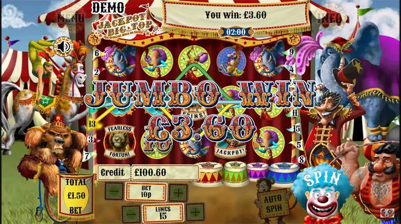 Jackpot Big Top Slot Screenshot 2