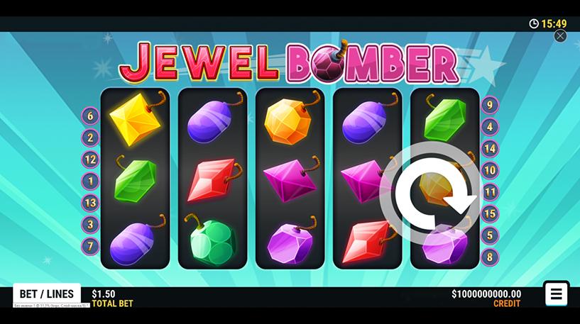 Jewel Bomber Slot Screenshot 3