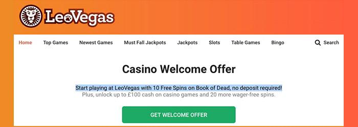 Leovegas No Deposit Casino Bonus