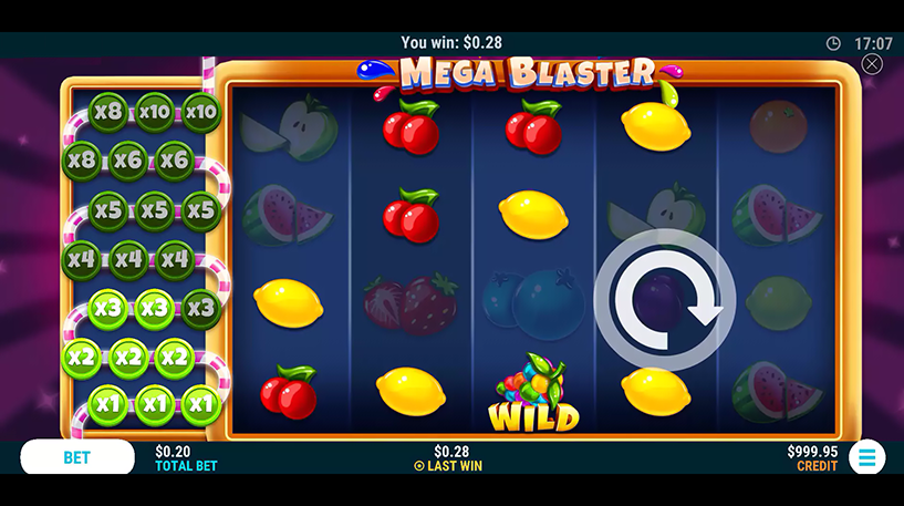 Mega Blaster Slot Screenshot 1