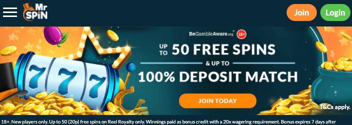 Mr Spin No Deposit Casino Bonus