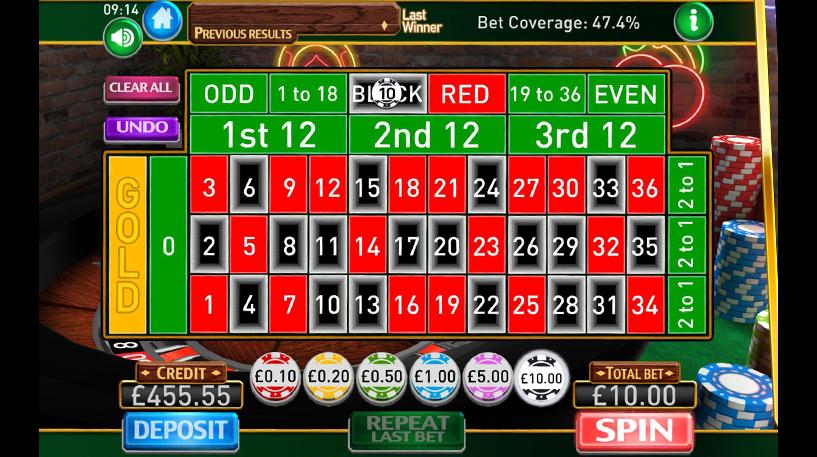 Roulette Gold Screenshot 1
