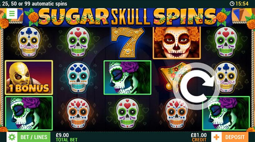 Sugar Skull Spins Slot Screenshot 2