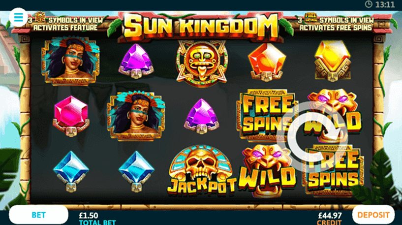 Sun Kingdom Slot Screenshot 1
