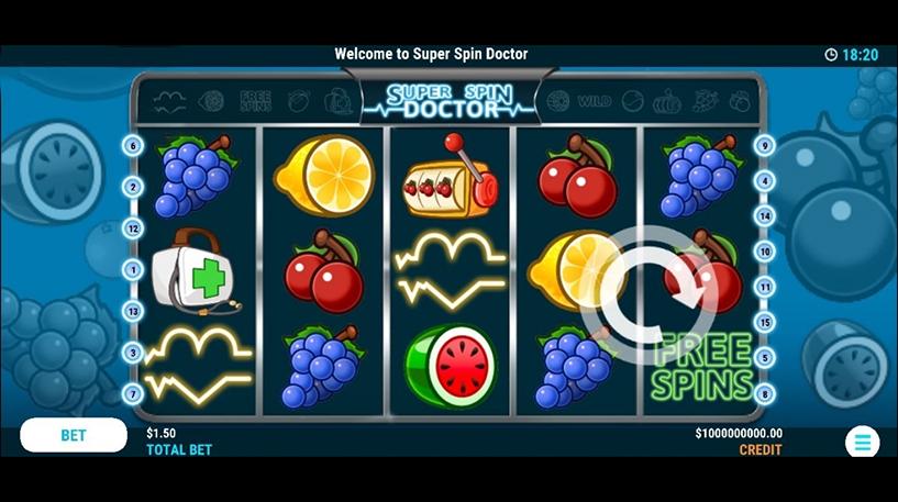 Super Spin Doctor Slot Screenshot 1