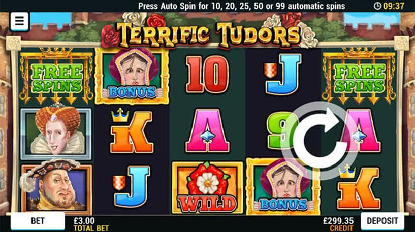 Terrific Tudors Slot Screenshot 1