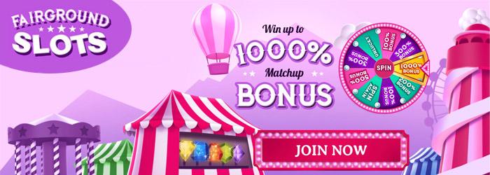 Fairground Slots Low Deposit Bonus
