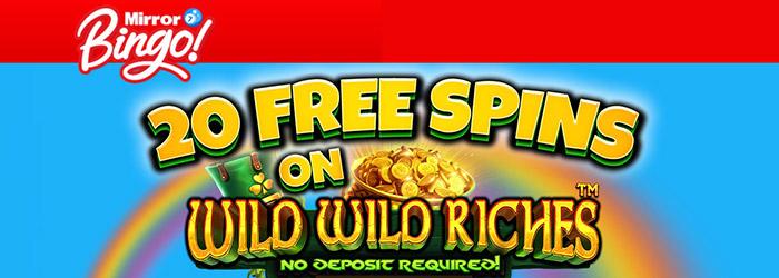 Mirror Bingo No Deposit Bonus
