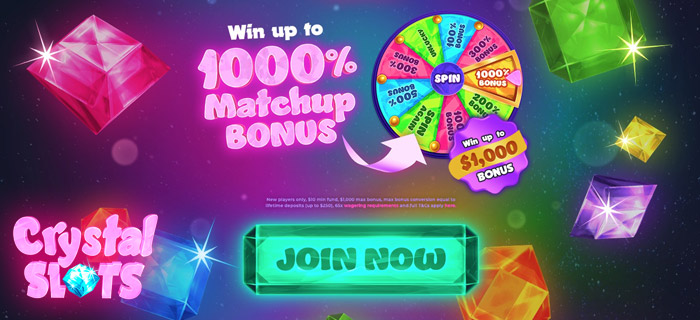 Crystal Slots: Win 10X Your First Deposit Amount, Deposit C$100 And Play With C$1000!