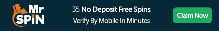 Mr Spin: 35 No Deposit Free Spins, Verify By Mobile In Minutes