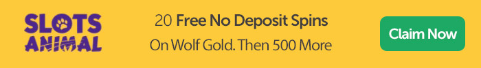 Slots Animal: 20 Free No Deposit Spins On Wolf Gold, Then 500 More
